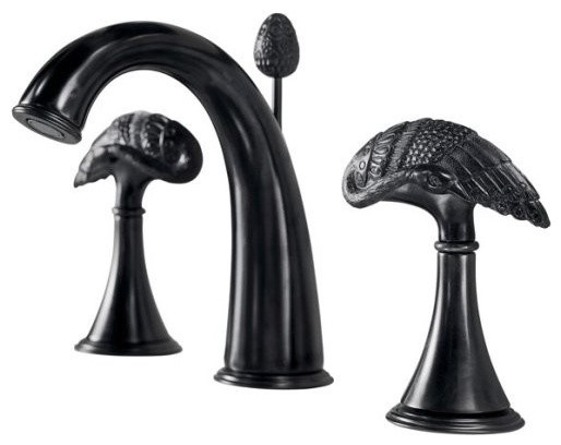 Black Widespread Bathroom Faucet : ... Widespread Lavatory Faucet in Black Iron traditional-bathroom-faucets