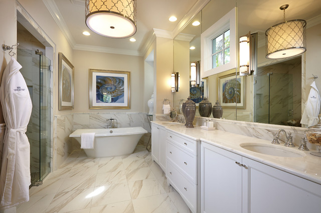 Southampton in olde naples beach style bathroom other metro by romanza interior design Bathroom design jobs southampton