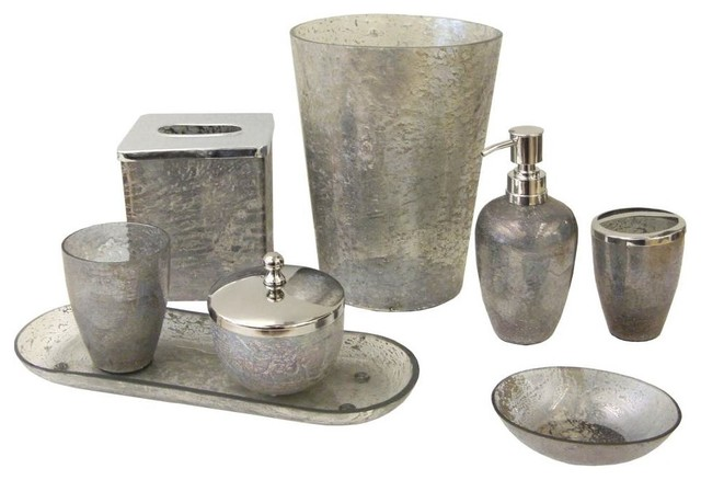 lava 8 bathroom accessory set gray bathroom