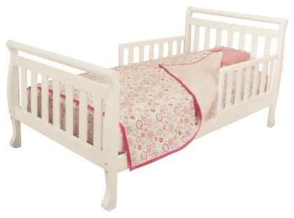 Athena Anna Low Profile Toddler Bed In White Transitional
