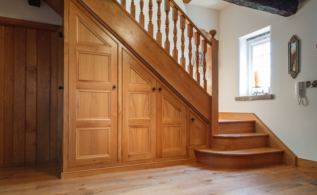 Oak under stairs storage
