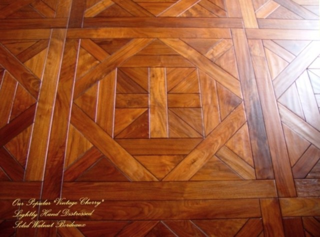 Bordeaux Parquet Pattern Traditional Hardwood Flooring Sacramento By
