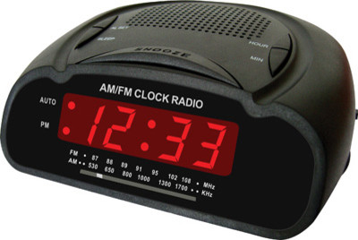 digital alarm clock radio led display modern alarm clocks by midland hardware. Black Bedroom Furniture Sets. Home Design Ideas