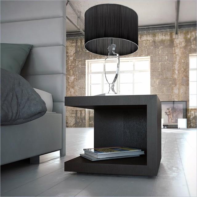 Modloft Ludlow Nightstand In Wenge Finish Modern