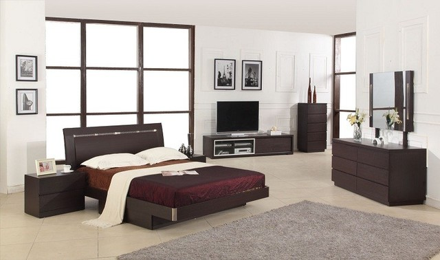 Capri Modern Wenge Bedroom Set Modern Bedroom Furniture Sets Los Angeles By La Furniture