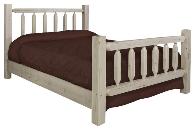 Montana Woodworks Homestead Panel Bed In Lacquered California King