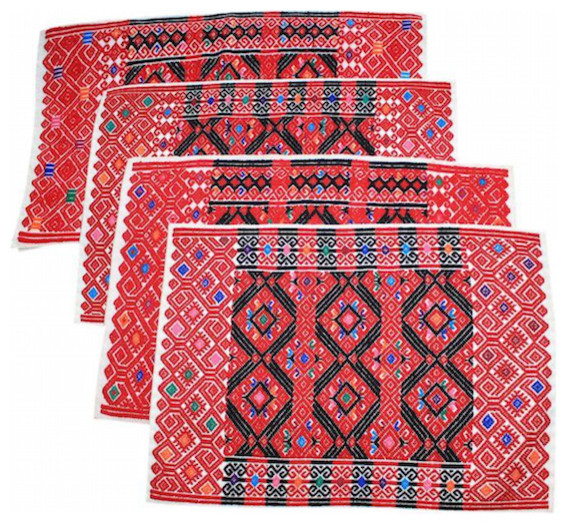 Placemats With Hand-Woven Brocade, Set Of 4