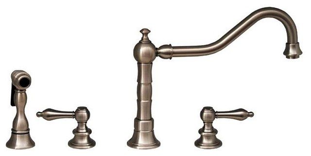 WHKLV3 4400 BN Brushed Nickel Wdspd Faucet Rustic