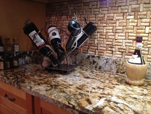 My new Bar Backsplash of wine corks