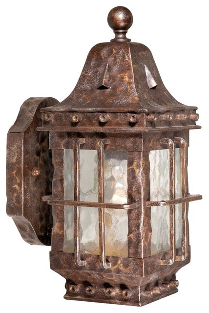 Colonial Exterior Wall Sconces : Edinburgh Colonial Iron 12.5 in. Outdoor Wall Light - Contemporary - Outdoor Wall Lights And ...