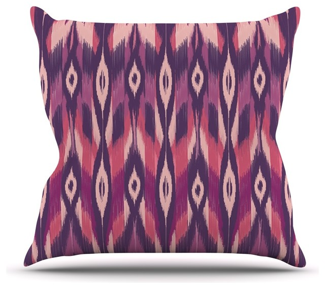 Pink Purple Decorative Pillows : Amanda Lane Purple/Pink/Lavender Ikat Throw Pillow - Contemporary - Decorative Pillows - by KESS ...