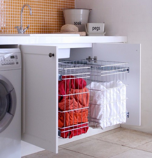 strange smell from either the laundry or kitchen
