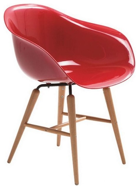 Chaise avec accoudoirs forum rouge contemporary dining chairs by inside75 - Chaise rouge transparente ...