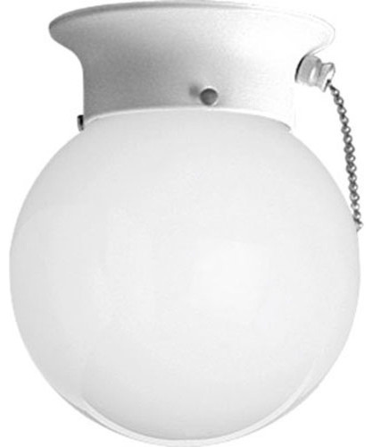 glass globes white one light pull chain flush mount with white glass. Black Bedroom Furniture Sets. Home Design Ideas