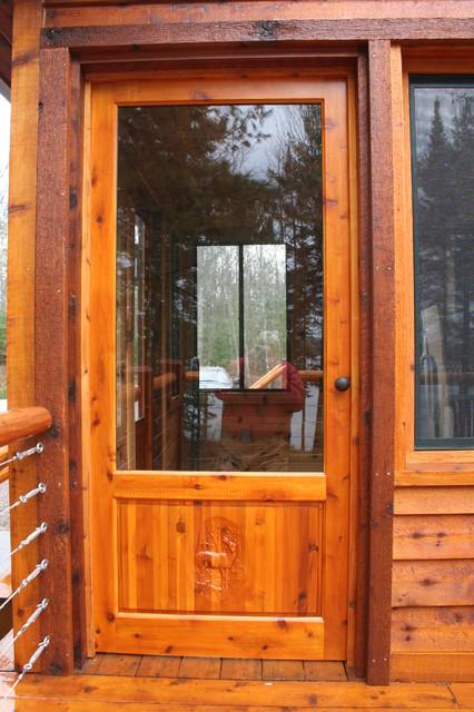 Custom wood screen door traditional doors