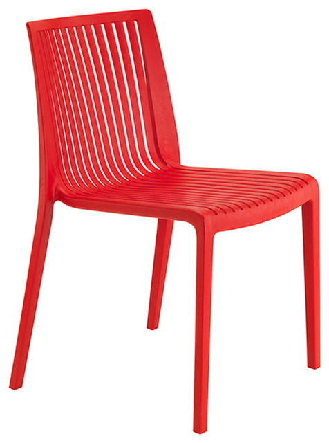 Outdoor Dining Chair Red Modern Outdoor Dining Chairs by Beaufurn