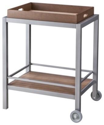 Threshold Bryant Faux Wood Patio Bar Cart - Contemporary - Bar Carts - by Target
