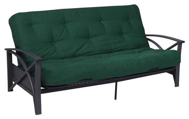 Brussels futon frame with powder coated metal arm in gray for W furniture brussels