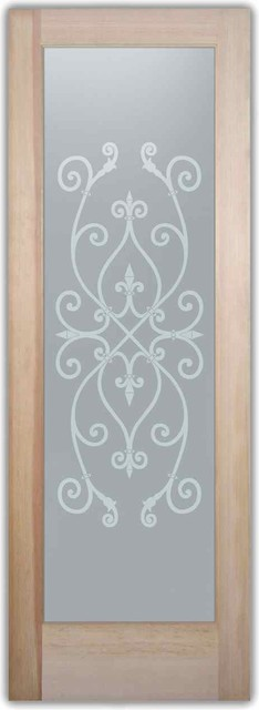 Bathroom doors interior glass doors frosted corazones for Mediterranean interior doors