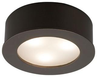 LED WAC 3 Watt Copper Bronze Under Cabinet Button Light - Modern ...