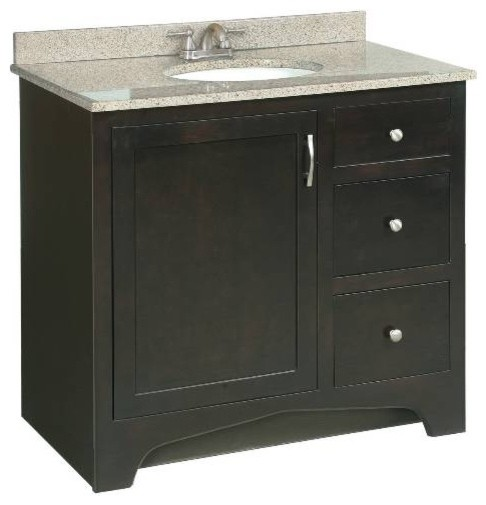 "Premier Sonoma RTA Vanity, 36"" transitional-bathroom-vanities-and-sink-consoles"
