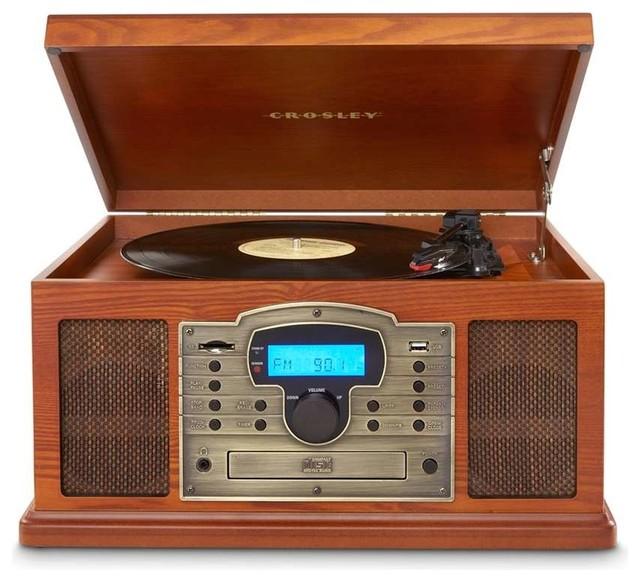 Crosley Radio Troubadour USB Entertainment Center, Paprika - Traditional - Home Electronics - by ...