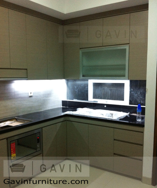 Kitchen set minimalis hpl pesanggrahan modern other for Design kitchen set minimalis