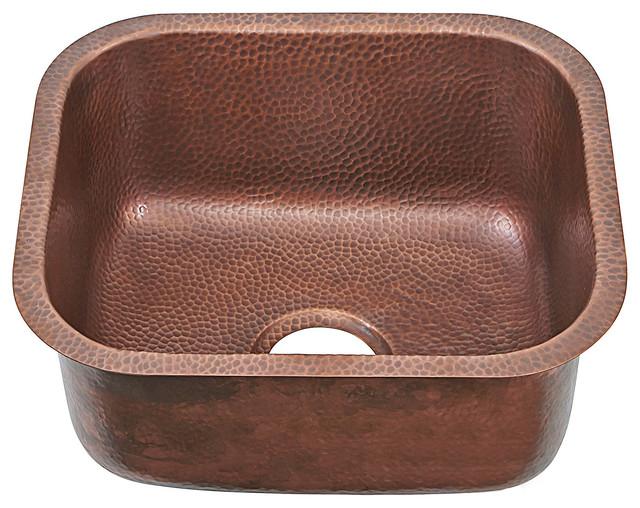 "Sisley Undermount Sink Copper 18 5"" Rustic Kitchen"