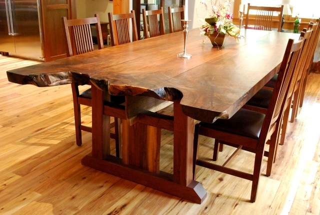 Edge Dining Room Tables NEWwoodworks Craftsman Dining Tables