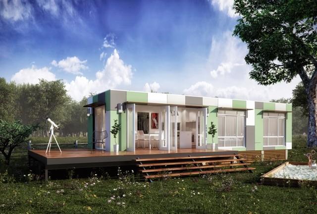 Granny flats prefab modular home samara modern for Prefab granny flat
