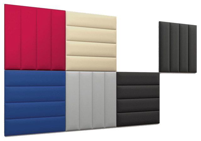 """Slalom EcoWall Acoustic Wall Panel, 24"""", Blue - Contemporary - Wall Panels - by Peter Pepper ..."""