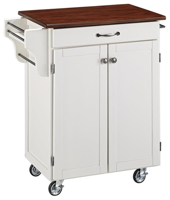 storage kitchen cart in white finish farmhouse kitchen