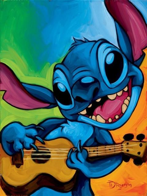 Disney Fine Art Stitch By Tim Rogerson Gallery Wrapped