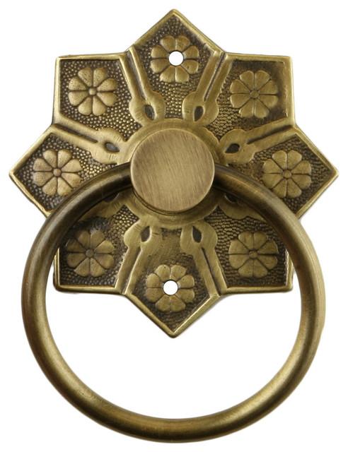 Eastlake Star Pattern Ring Pull - Mediterranean - Cabinet And Drawer Handle Pulls