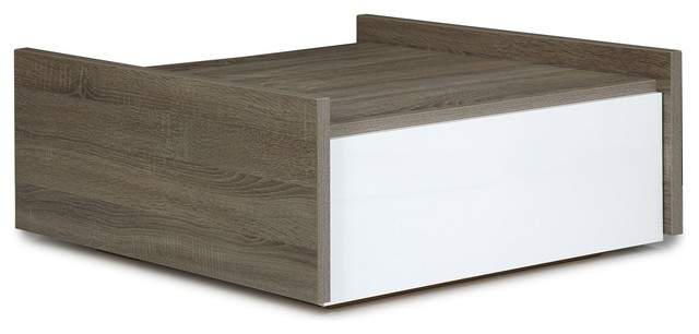 Cl o table basse bi mati re large tiroir contemporary - Alinea tables basses ...