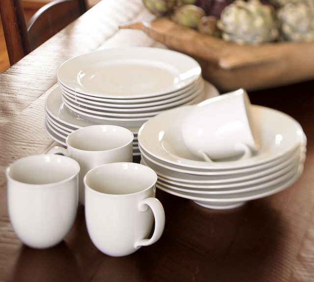 Great White Traditional Dinnerware Traditional