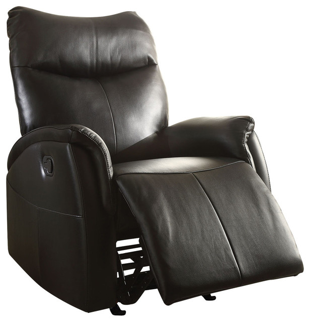 Black Leather Recliner Chair With Footstool Chairs Uk Canada Coaster Recliners