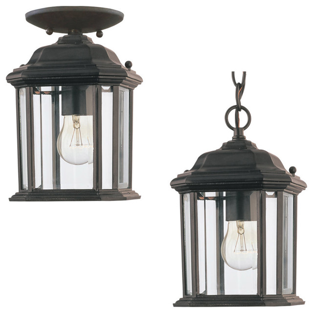 Sea gull lighting 60029 12 kent 1 light outdoor pendants for Front porch hanging light