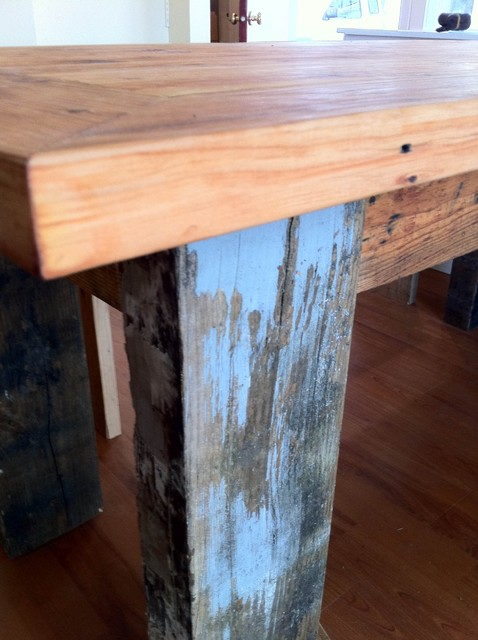reclaimed farm table from rydawell woodworks Dining  : dining tables from www.houzz.com size 478 x 640 jpeg 68kB