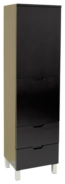 Fresca Espresso Bathroom Linen Cabinet W 3 Pull Out Drawers Modern Bathroom Cabinets And