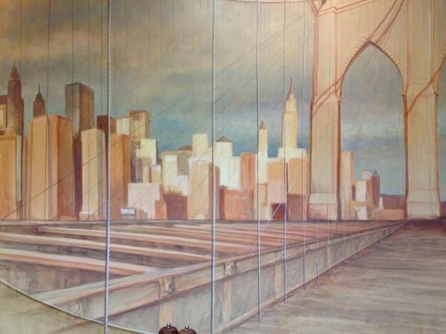 Brooklyn bridge mural mediterranean other metro by for Brooklyn bridge mural