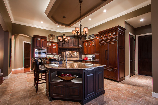 Elegant country home traditional kitchen other metro for Elegant traditional kitchens