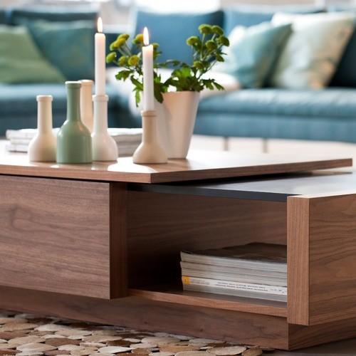 Aurelle Home Amanda Glass Top Rectangle Coffee Table: Axis Coffee Table