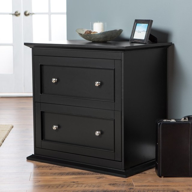 Belham Living Hampton Two Drawer Lateral Filing Cabinet - Black - KG-035-2-BK contemporary ...