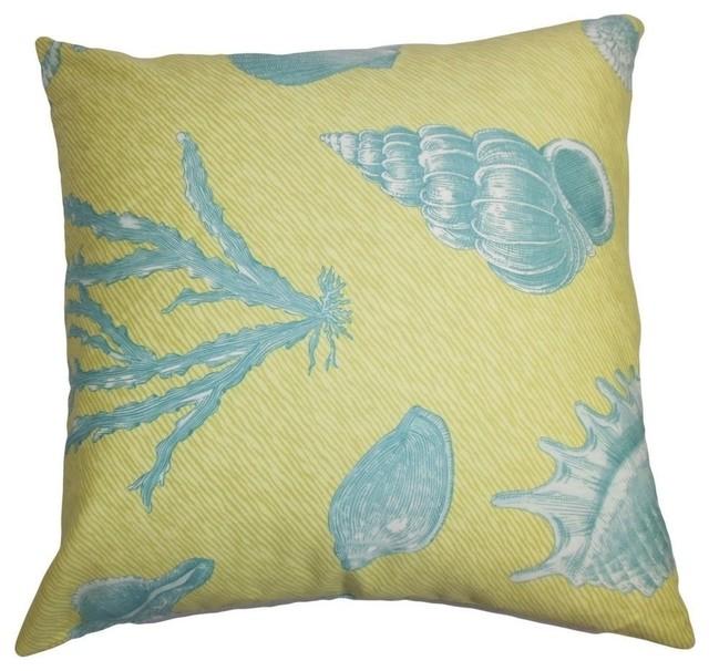 Coastal Decorative Throw Pillows : Sada Coastal Pillow, Green Blue 20