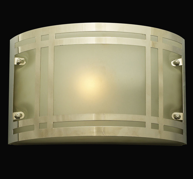 Outdoor Wall Lights Chrome : Oslo Polished Chrome Exterior Lamp - Frost modern-outdoor-wall-lights-and-sconces