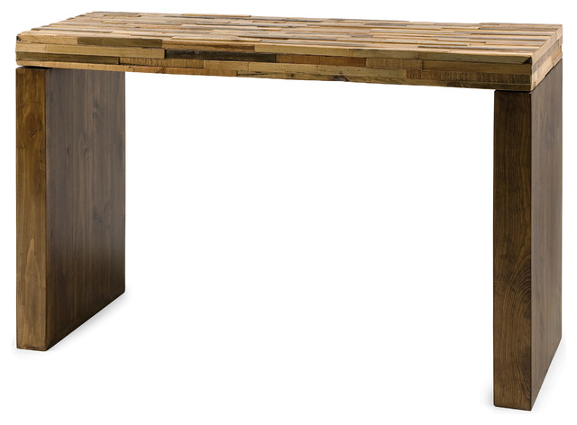 Caledonia Reclaimed Pine Wood Console Table - Rustic - Console Tables - by IMAX Worldwide Home
