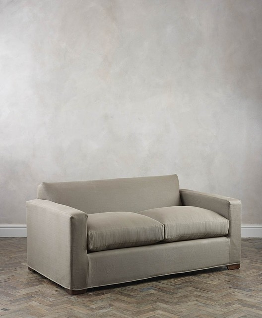 Nusa Linen Two Seat Sofa Bed Modern Sofa Beds Other