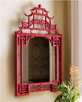 Red Pagoda Mirror - Asian - Wall Mirrors - by Horchow