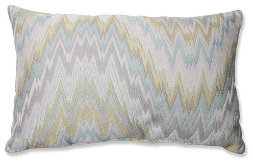 Eclectic Couch Pillows : Light My Fire Seaglass Blue Rectangular Throw Pillow - Eclectic - Bed Pillows
